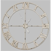 Annency Clock, Aged Cream Finish with Gray Undertones