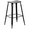 30'' High Black Metal Indoor-Outdoor Barstool