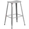 Flash Furniture 30'' High Silver Metal Indoor-Outdoor Barstool