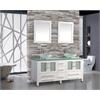 "MTD Vanities Cuba 61"" Double Sink Bathroom Vanity Set, White"