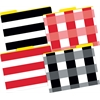 Barker Creek Buffalo Plaid & Wide Stripes File Folders, Multi-Design Set of 12