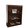 "Contemporary 48""H wood veneer bookcase, Vintage Walnut"