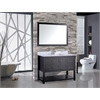 "Norway 48"" Single Sink Bathroom Vanity Set, Espresso"