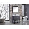 "Norway 24"" Single Sink Bathroom Vanity Set, Espresso"