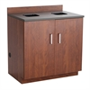 Hospitality Base Cabinet, Waste Receptacle Rustic Slate/Mahogany