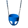 Full Bucket Toddler Swing - Blue