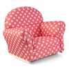 KidKraft Upholstered Rocker with Slip Cover - Pink with White Polka Dots
