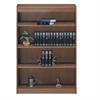 """Excalibur heavy duty shelf 60""""H wood veneer bookcase, Natural Oak"""