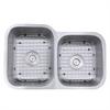 NS6040-16 - 32 Inch 60/40 Double bowl Undermount Stainless Steel Kitchen Sink, 16 Gauge