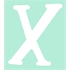White Capital Letter x