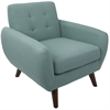 LumiSource Hemingway Mid-Century Modern Accent Chair in Teal