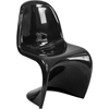 Flash Furniture Mystique Series Black Plastic Stacking Side Chair