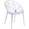 Flash Furniture Specter Series Transparent Stacking Side Chair