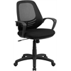 Flash Furniture Mid-Back Black Mesh Swivel Task Chair with Arms