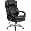Flash Furniture HERCULES Series 24/7 Intensive Use, Multi-Shift, Big & Tall 500 lb. Capacity Black Leather Executive Swivel Chair with Loop Arms