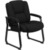 Flash Furniture HERCULES Series 500 lb. Capacity Big & Tall Black Fabric Executive Side Chair with Sled Base