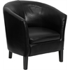 Flash Furniture Black Leather Barrel Shaped Guest Chair
