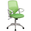 Flash Furniture Mid-Back Green Mesh Swivel Task Chair