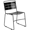 HERCULES Series Black Indoor-Outdoor Metal Stack Chair