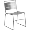 Flash Furniture HERCULES Series Silver Indoor-Outdoor Metal Stack Chair