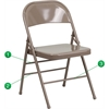 Flash Furniture HERCULES Series Triple Braced & Double Hinged Beige Metal Folding Chair