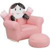 Flash Furniture Kids Pink Little Girl Rocker Chair and Footrest