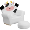 Flash Furniture Kids Cow Rocker Chair and Footrest