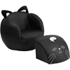 Flash Furniture Kids Cat Chair and Footstool