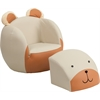 Flash Furniture Kids Bear Chair and Footstool