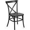 Flash Furniture HERCULES Series Black Resin Indoor-Outdoor Cross Back Chair with Steel Inner Leg