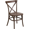 Flash Furniture HERCULES Series Chocolate Resin Indoor-Outdoor Cross Back Chair with Steel Inner Leg