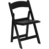 HERCULES Series 1000 lb. Capacity Black Resin Folding Chair with Black Vinyl Padded Seat
