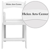 Personalized HERCULES Series 1000 lb. Capacity White Resin Folding Chair with Slatted Seat