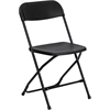 Flash Furniture HERCULES Series 800 lb. Capacity Premium Black Plastic Folding Chair