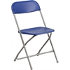 Flash Furniture HERCULES Series 800 lb. Capacity Premium Blue Plastic Folding Chair