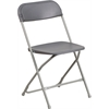 Flash Furniture HERCULES Series 800 lb. Capacity Premium Grey Plastic Folding Chair