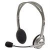 H110 Stereo Headset, Black, Silver