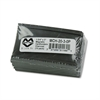 Magna Visual Magnetic Card Holders, 3 x 1 3/4, Charcoal, 10/Pack