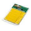 Magna Visual Magnetic Write-On/Wipe-Off Pre-Cut Strips, 2 x 7/8, Yellow, 25/Pack