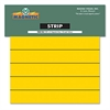 Magna Visual Magnetic Write-On/Wipe-Off Pre-Cut Strips, 6 x 7/8, Yellow, 25/Pack