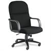 Big & Tall Series Executive Chair w/Loop Arms, Acrylic/Poly Blend Fabric,Black