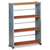 "Eastwinds 994 Storage Shelf - 32.5"" x 12"" x 44.5"" - Steel - 4 x Shelf(ves) - Medium Cherry"