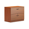 Mayline Brighton Series Laminate Two-Drawer Lateral File, 36w x 20d x 29h, Cherry