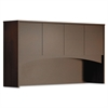 Mayline Brighton Series Laminate Wood Door Hutch, 72w x 15d x 39-1/2h, Mocha