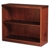 Mira Series Wood Veneer Two-Shelf Bookcase, 34-3/4w x 12d x 29h, Medium Cherry