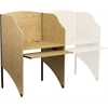 Flash Furniture Starter Study Carrel in Oak Finish