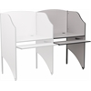 Flash Furniture Add-On Study Carrel in Nebula Grey Finish