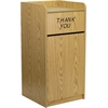 Flash Furniture Wood Tray Top Receptacle in Oak Finish