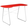 Flash Furniture Red Computer Desk with White Frame