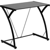 Flash Furniture Contemporary Tempered Black Glass Computer Desk with Matching Frame